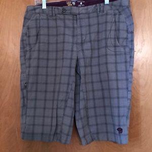 Grey plaid Bermuda shorts